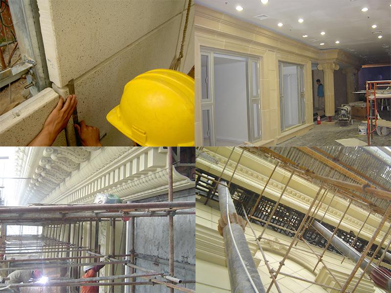 GRC构件的安装条件以及防水措施