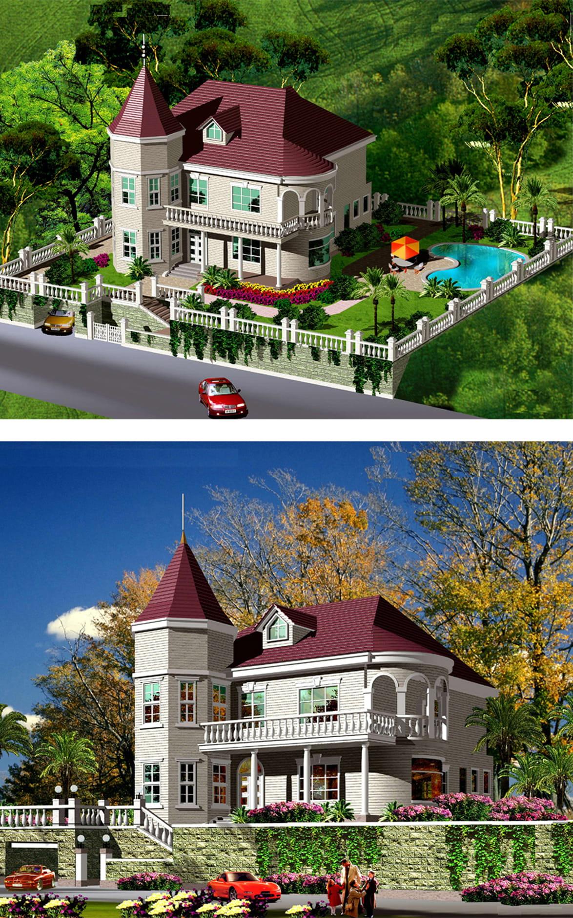 别墅效果图