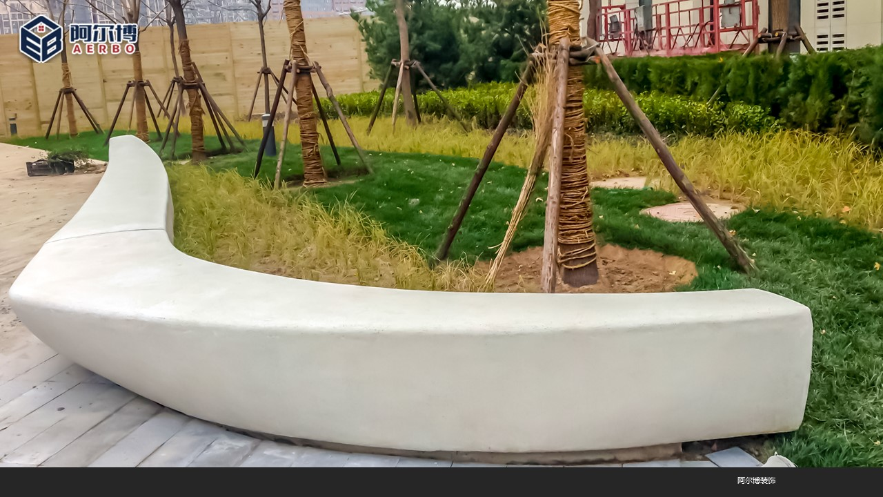 水泥仿石树池坐凳